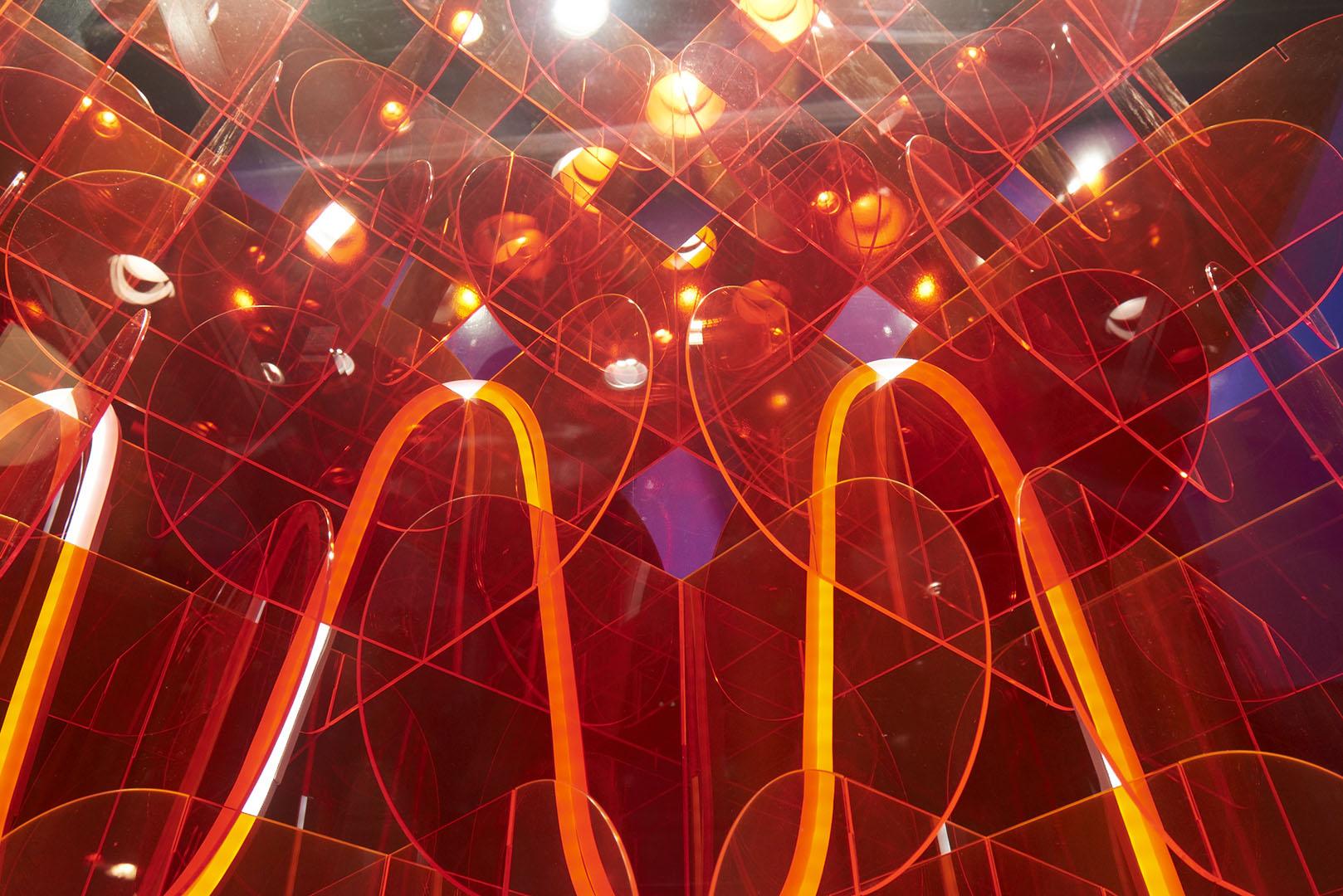 Abstract acrylic display